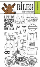 Dress Up Riley - Motorcycle Clear Stamp Set