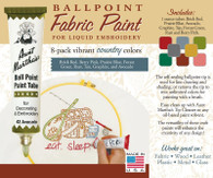 Aunt Martha's Ballpoint Paint 8 Pack (Country)