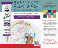 Aunt Martha's Ballpoint Paint 8 Pack (Jewel)