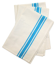 Retro Bold Twill Turquoise Striped Towel