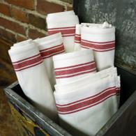 Retro Bold Twill Red Striped Towel