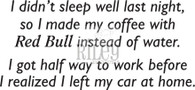 Coffee with Red Bull
