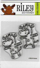 Basic Dress Up Cows - set of 2 clear stamps