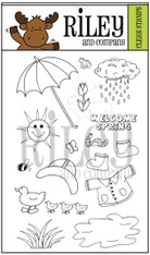 Dress Up Riley - Spring Showers Clear Stamp Set