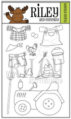 Dress Up Riley - Farmer Clear Stamp Set