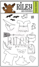 Dress Up Riley - Halloween 2 clear stamp set
