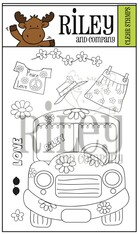 Dress Up Riley - Love  Bus clear stamps