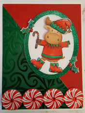 Card Kit - Elf with Candy Cane