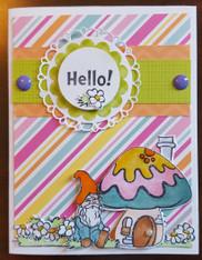 Card Kit - Mushrooms Hello! 2 (with stripes)