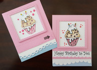 Card Kit - Cupcake Zipper Card