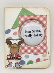 Card Kit - Dear Santa Button Card