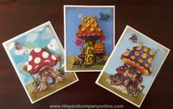 3-D Mushroom Lane Cards!