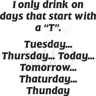 """Days that start with a """"T"""""""