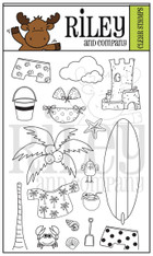 Dress Up Riley-Beach clear stamp set