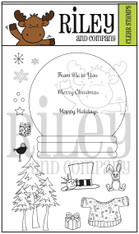 Dress Up Riley - Snow Globe Clear Stamps