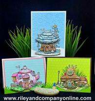3-D Mushroom Lane Cards #2