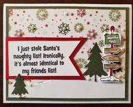 Santa's Naughty List Card Kit