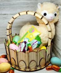 Wooden Easter Basket Kit - Natural Finish