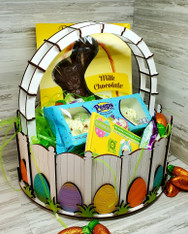 The eggs WILL NOT be painted so you can create your own one of a kind basket!