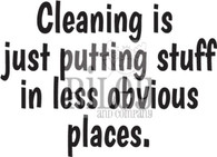 Cleaning is...
