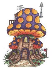 Mushroom Lane Polkadot House 2