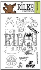 Dress Up Riley - Super Hero's 1 clear stamp set