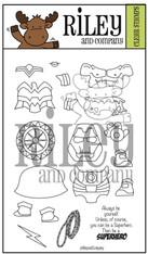 Dress Up Riley - Super Hero's 2 clear stamp set