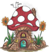Mushroom Lane Polkadot House