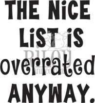 The Nice List is Overrated