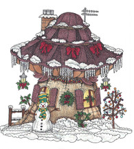 Mushroom Lane Snowman House