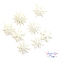 Glitter Snowflake Buttons