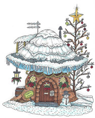Mushroom Lane Winter House