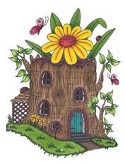 Mushroom Lane - Tree Stump House 1