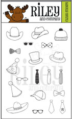 Dress Up Riley - Starter Accessories Clear Stamps
