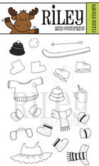 Dress Up Riley - Winter Accessories Clear Stamp Set