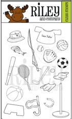 Dress Up Riley - Sports Clear Stamps
