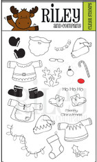 Dress Up Riley - Christmas Clear Stamps