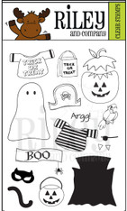 Dress Up Riley - Halloween Clear Stamps