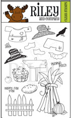 Dress Up Riley - Fall Clear Stamps