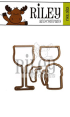 Wine Glass/Beer Mug Duo (4 dies)