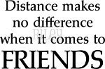 Distance makes no difference