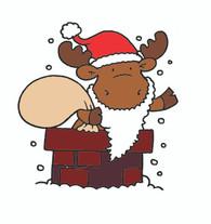 Santa In Chimney Riley