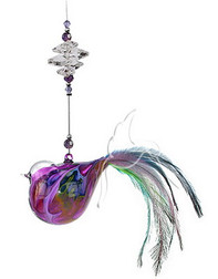 Featherd and Beaded Purple Bird