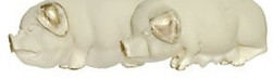 Pigs statue (Male and Female) Cream colour - Wealth and Comfort