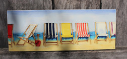 4 Deck chairs tile