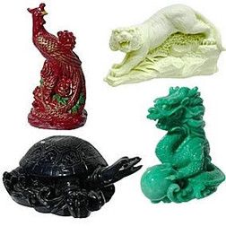 Celestial Animal Statues Set of 4