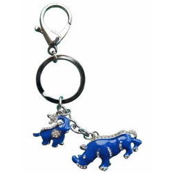 Blue Rhino and Elephant keyring