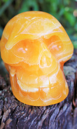 Orange Calcite Skull
