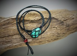 Small Hemp cage Necklace - Black