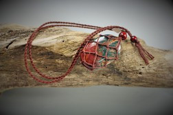 Large hemp cage Necklace - Brown